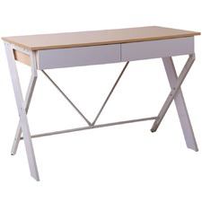 White Metal Desk with Drawer