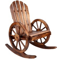 Brown Gardeon Wagon Wheels Rocking Chair