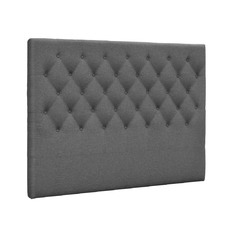Grey Button Tufted Headboard