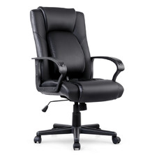 Aleksandra Faux Leather High Back Office Chair