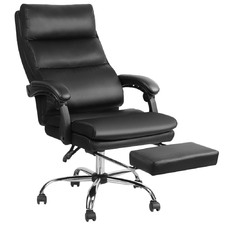 Black Aston Faux Leather Office Chair