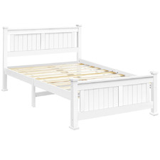 White Nina Queen Bed Frame