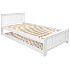 White Lloyd King Single Trundle Bed