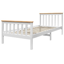 White Pony Pine Wood Bed Frame
