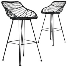 Downhill Faux Wicker Barstool (Set of 2)