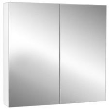 Cefito Vanity Mirror with 2 Door Storage Cabinet
