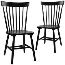 Black Neo Scandinavian Dining Chairs (Set of 2)