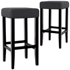 77cm Charcoal Aronas Barstools (Set of 2)