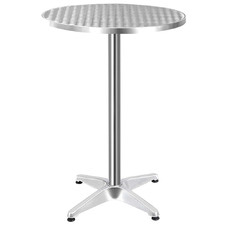 Silver Maaria Aluminium Adjustable Round Bar Table