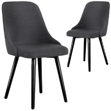 Charcoal Jimmie Fabric Dining Chairs (Set of 2)