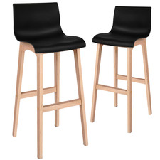 Alethea Beech Wood Barstools (Set of 2)