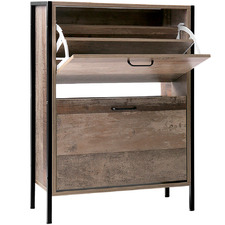 12 Pair Wooden Shoe Rack Cabinet