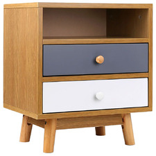 Jarpen Wooden Bedside Table