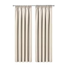 Sand Art Queen Pinch Pleat Blockout Curtains (Set of 2)