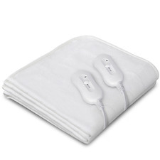 White Adriana Electric Blanket