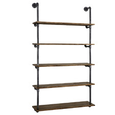 Amis Rustic Industrial Pipe Floating Shelf