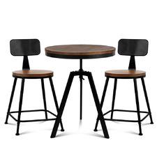 Forum 2 Seater Elm Wood Bar Table & Stool Set