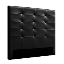 Black Beno Faux Leather Bedhead