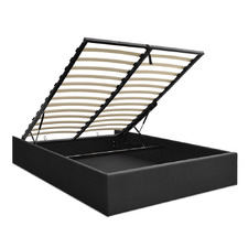 Charcoal Toki Gas Lift Storage Bed Frame