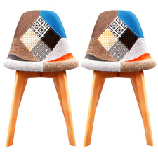 Patch Replica Eames Upholstered Dining Chairs (Set of 2)