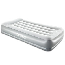 Grey Inflatable Single Air Bed