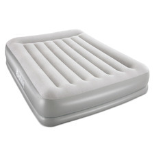 Light Grey Inflatable Queen Air Bed