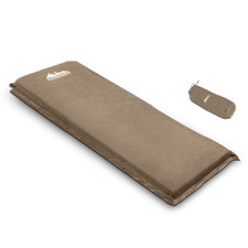 Coffee Faux Suede Camping Joinable Mat