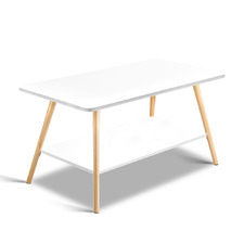 White Kevlar Wooden Coffee Table