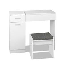 2 Piece White Romina Dressing Table & Stool Set