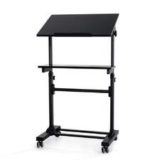 Black 3 Tier Serrano Mobile Desk