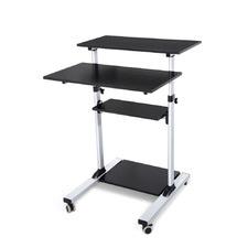 Black 4 Tier Serrano Mobile Desk