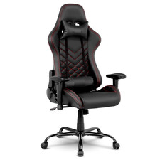 Black Linden Magnum Faux Leather Gaming Chair