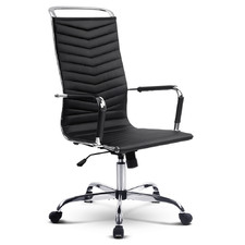 Eames Replica High Back Faux Leather Office Chair