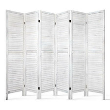 Scoots 6 Panel Wooden Room Divider