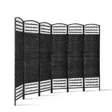 Primark 6 Panel Rattan & Wood Room Divider