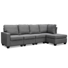 Grey Nissin 4 Seater Sofa Set
