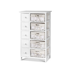 White Reeana 10 Drawer Storage Cabinet