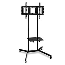 Black Chandy Metal TV Floor Stand