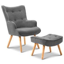 Lansar Upholstered Chair & Ottoman Set