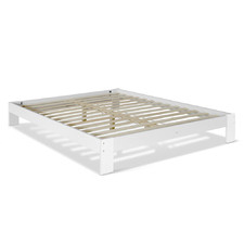 White Gilmann Wooden Bed Frame