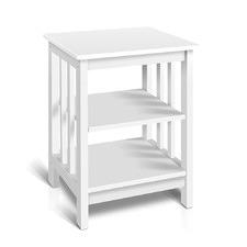 White Gosard Wooden Bedside Table