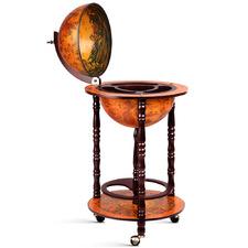 Brown Fable Wooden Globe Bar Cart