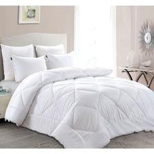 White Adriana Soft Microfibre Quilt