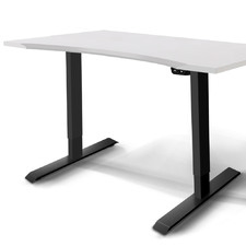 White Ruso Electric Adjustable Standing Desk