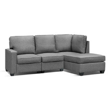 Grey Jacque 3 Seater Sofa Bed with Chaise
