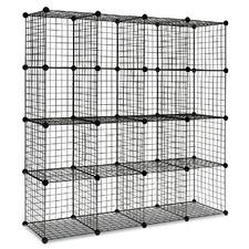 16 Cube Metal Wire Storage Cabinet