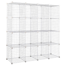 16 Cube Metal Wire Storage Cabinet