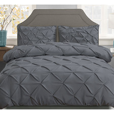 Charcoal Adriana Quilt Cover Set