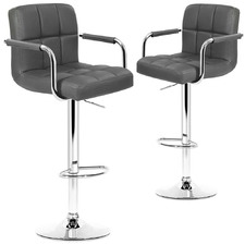 Noe Adjustable Premium Faux Leather Barstools (Set of 2)