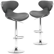 Disa  Premium Faux Leather Adjustable Barstools (Set of 2)